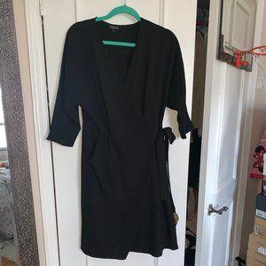 Topshop Wrap Midi Dress Size 8